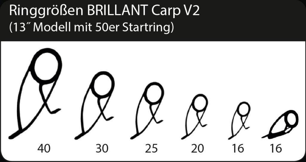 Ringgrößen BRILLANT Carp V2